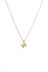 Wrote You a Letter Gold H Necklace at Lulus.com!