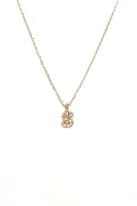 Wrote You a Letter Gold S Necklace at Lulus.com!