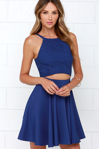 Fleur the Fun of It Blue Skater Dress at Lulus.com!