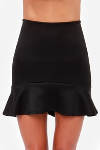 LULUS Exclusive Play the Trumpet Black Skirt at Lulus.com!