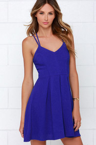 To the Rescue Royal Blue Dress at Lulus.com!