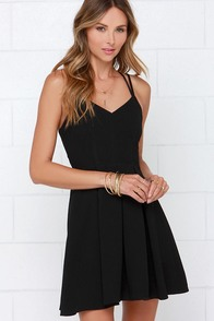 To the Rescue Black Dress at Lulus.com!