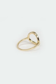 Circle Up Gold Rhinestone Ring at Lulus.com!