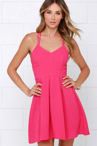 To the Rescue Fuchsia Dress at Lulus.com!