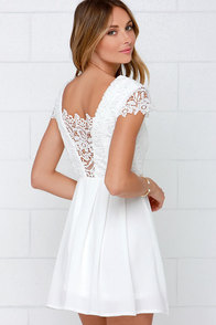 Lavish in Lace Ivory Lace Dress at Lulus.com!