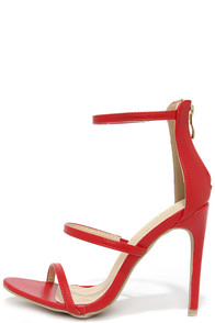 Three Love Red Dress Sandals at Lulus.com!