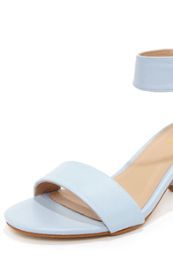 Mixx Shuz Ava Light Blue Ankle Strap Sandals at Lulus.com!