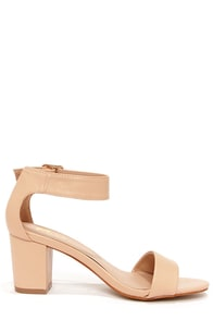Mixx Shuz Ava Nude Ankle Strap Sandals at Lulus.com!