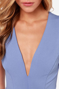 Queen Sweep Periwinkle Dress at Lulus.com!