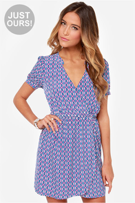 LULUS Exclusive Busy Bodice Purple Print Dress at Lulus.com!