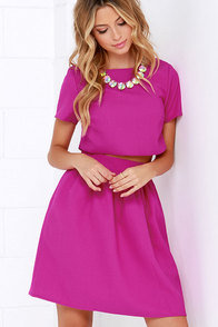 You and Me Magenta Two-Piece Dress at Lulus.com!
