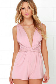 Any Way You Want Me Dusty Pink Romper at Lulus.com!