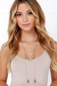 Tell a Tale Gold Tassel Necklace at Lulus.com!