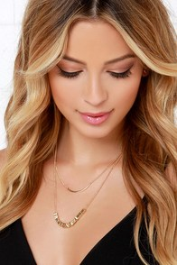 Row With It Gold Layered Necklace at Lulus.com!