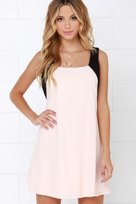 Sway of Life Black and Peach Swing Dress at Lulus.com!