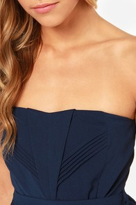 LULUS Exclusive Heart of the Matter Navy Blue Strapless Dress at Lulus.com!
