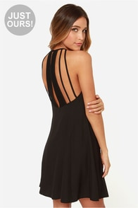 LULUS Exclusive Walk on the Wild Side Black Dress