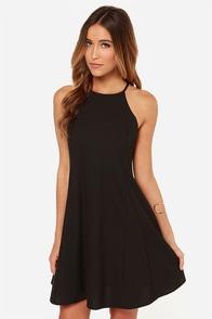LULUS Exclusive Walk on the Wild Side Black Dress at Lulus.com!