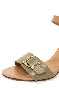 City Classified Belini Khaki and Light Tan Ankle Strap Sandals at Lulus.com!