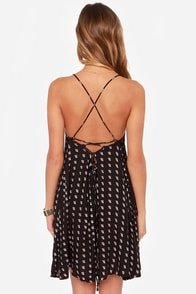RVCA Told Secrets Black Print Dress at Lulus.com!