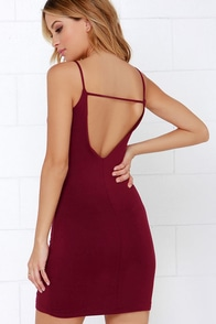 After Party Wine Red Bodycon Mini Dress at Lulus.com!