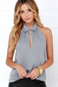 Elite Life Grey Top at Lulus.com!