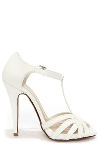 My Delicious Arky White T Strap Dress Sandals at Lulus.com!