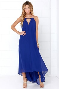 Window to the Heart Royal Blue High-Low Dress at Lulus.com!