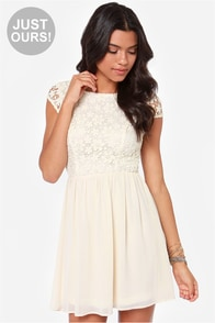 LULUS Exclusive Fleur Get Me Not Cream Crochet Dress at Lulus.com!