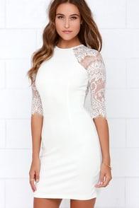BB Dakota Princeton Ivory Lace Dress