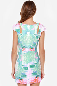 Lily Pond Lady Floral Print Dress at Lulus.com!