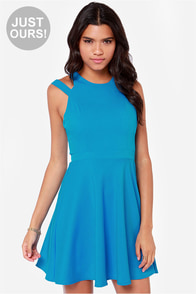 LULUS Exclusive Make It You Blue Dress at Lulus.com!