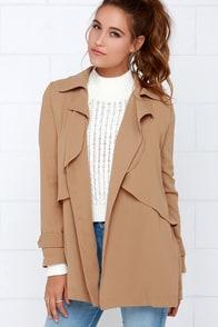 Coat Check Brown Oversized Jacket at Lulus.com!