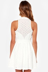 The Eyelets Have It Ivory Lace Dress at Lulus.com!
