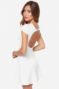 One Rad Girl Darlene Backless Ivory Dress at Lulus.com!