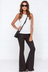 I'd Suede So Washed Black Flare Pants at Lulus.com!