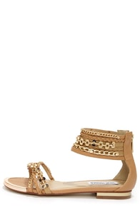 Steve Madden Lawful Tan Multi Ankle Strap Sandals at Lulus.com!