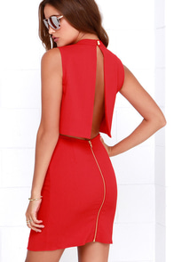 Go All Out Red Sleeveless Dress at Lulus.com!