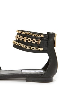 Steve Madden Lawful Black Multi Ankle Strap Sandals at Lulus.com!