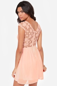 LULUS Exclusive Fleur Get Me Not Peach Crochet Dress at Lulus.com!