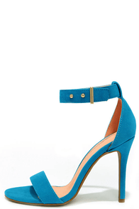 Play It Cool Turquoise Suede Ankle Strap Heels at Lulus.com!