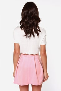 LULUS Exclusive Times Flare Light Pink Skirt at Lulus.com!
