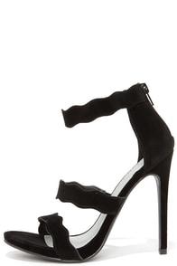 My Wave Black Suede Dress Sandals at Lulus.com!