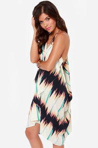 How Flow Can You Go Ivory Print Dress at Lulus.com!