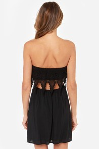 Ready For Anything Strapless Black Dress at Lulus.com!