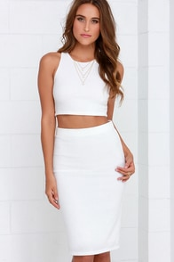 City Breeze Ivory Two-Piece Midi Dress at Lulus.com!