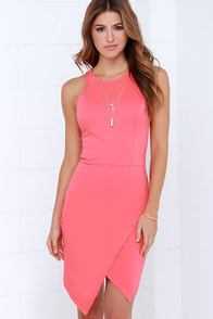 Rocksteady and Ready Coral Pink Bodycon Dress at Lulus.com!