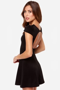 One Rad Girl Darlene Backless Black Dress at Lulus.com!