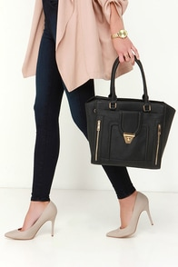Haute Pursuit Black Tote at Lulus.com!
