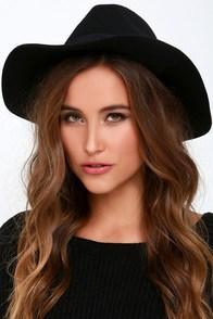 Tip Your Brim Black Fedora Hat at Lulus.com!